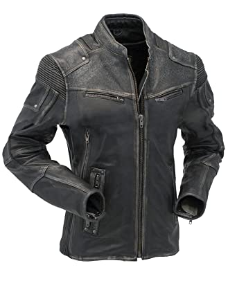 41fd9d584b32 Jacket Collections Biker Style Motorcycle Cafe Racer Vintage Distressed For  Sale On Amazon (XS)