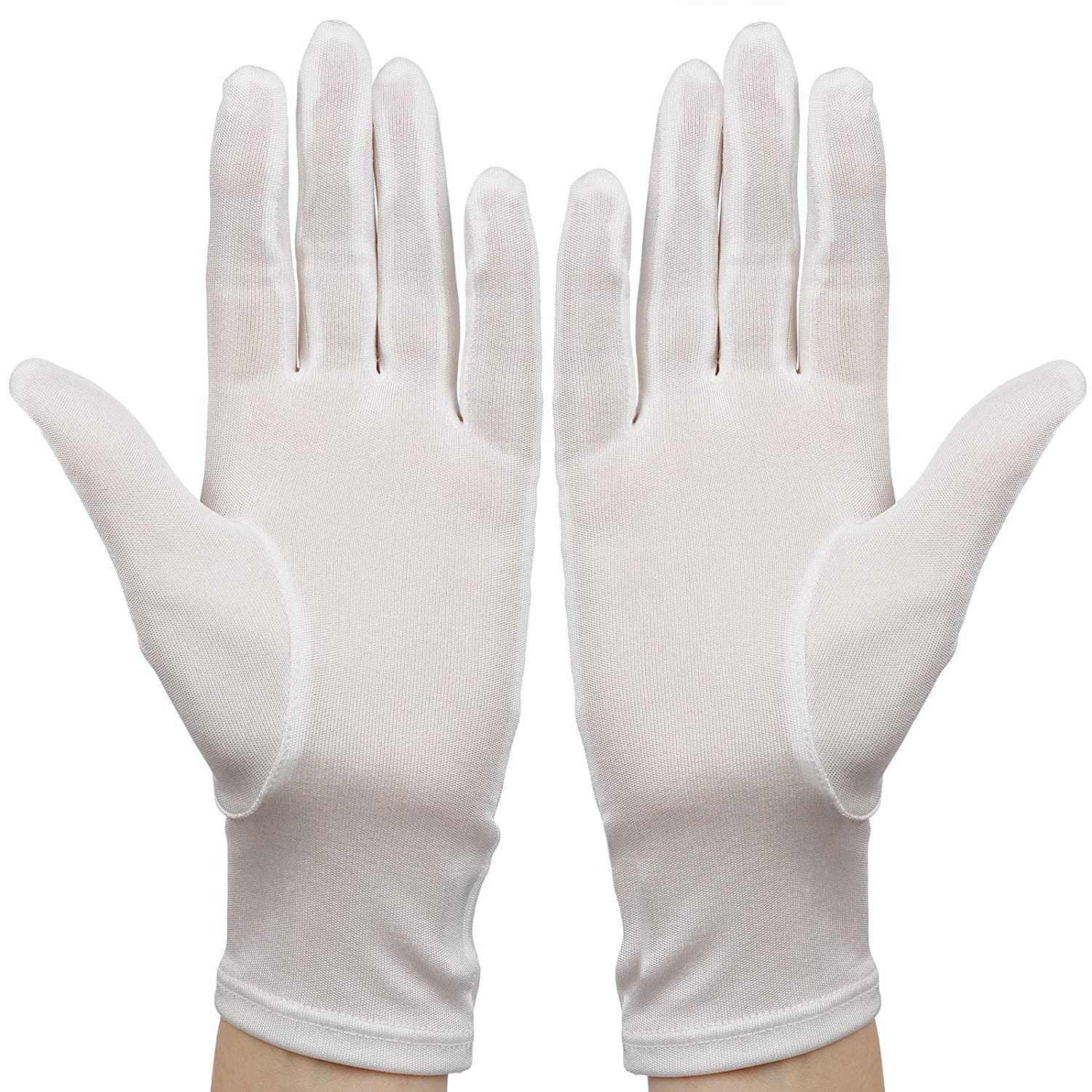 Black cotton gloves for eczema - Membrane White Silk Moisturising Gloves Adult Eczema Hands Skincare One Size Unisex