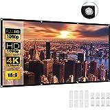 Projector Screen 120 Inch, Deesoo 16:9 HD Protable Projection Screen Indoor Outdoor Foldable Projector Movies Screen Support
