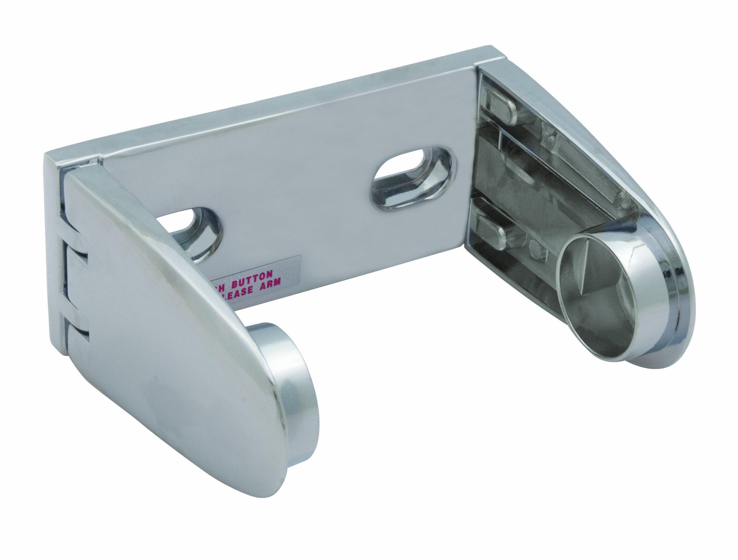 Bradley 505-000000 Die Cast Zinc Tension Spring Control Spindle Less Toilet Tissue Dispenser, 5-1/2'' Width x 2-3/8'' Height x 4-1/4'' Depth