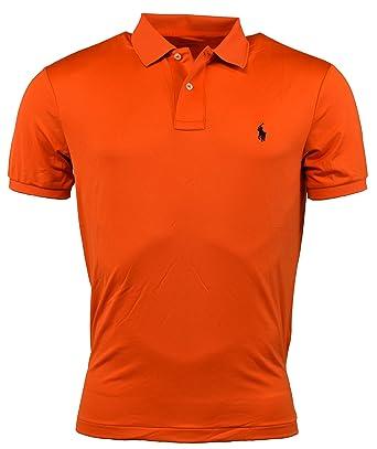 d1c75b69 Polo Ralph Lauren Mens Performance Solid Color Polo Shirt - XS - Orange