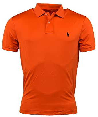 Polo Ralph Lauren Mens Performance Solid Color Polo Shirt - XS - Orange