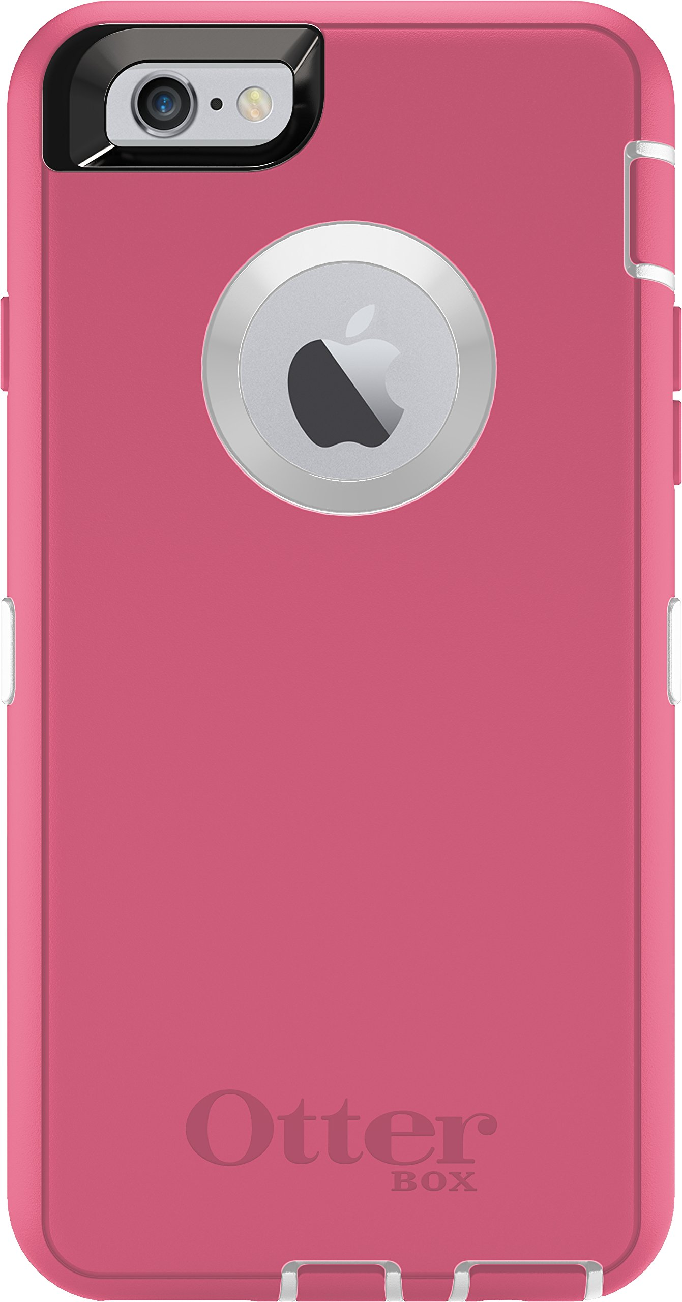 OtterBox Defender Series iPhone 6 Plus Only Case (5.5'' Version), Retail Packaging, Neon Rose (Whisper White/Blaze Pink)