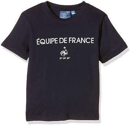 FFF EP1600 - Camiseta de Manga Corta para niño firmada por el Equipo de Francia,