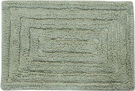 Light Sage 21 by 34-Inch Castle Hill Chakkar Board Spray Latex Back Bath Rug