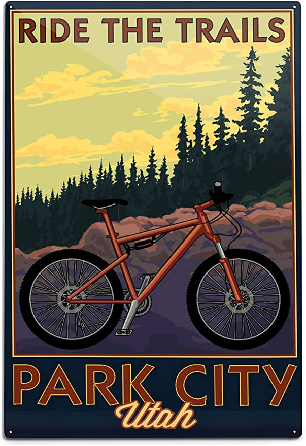 Road Bike Conquer the Hill 36x54 Giclee Gallery Print, Wall Decor Travel Poster
