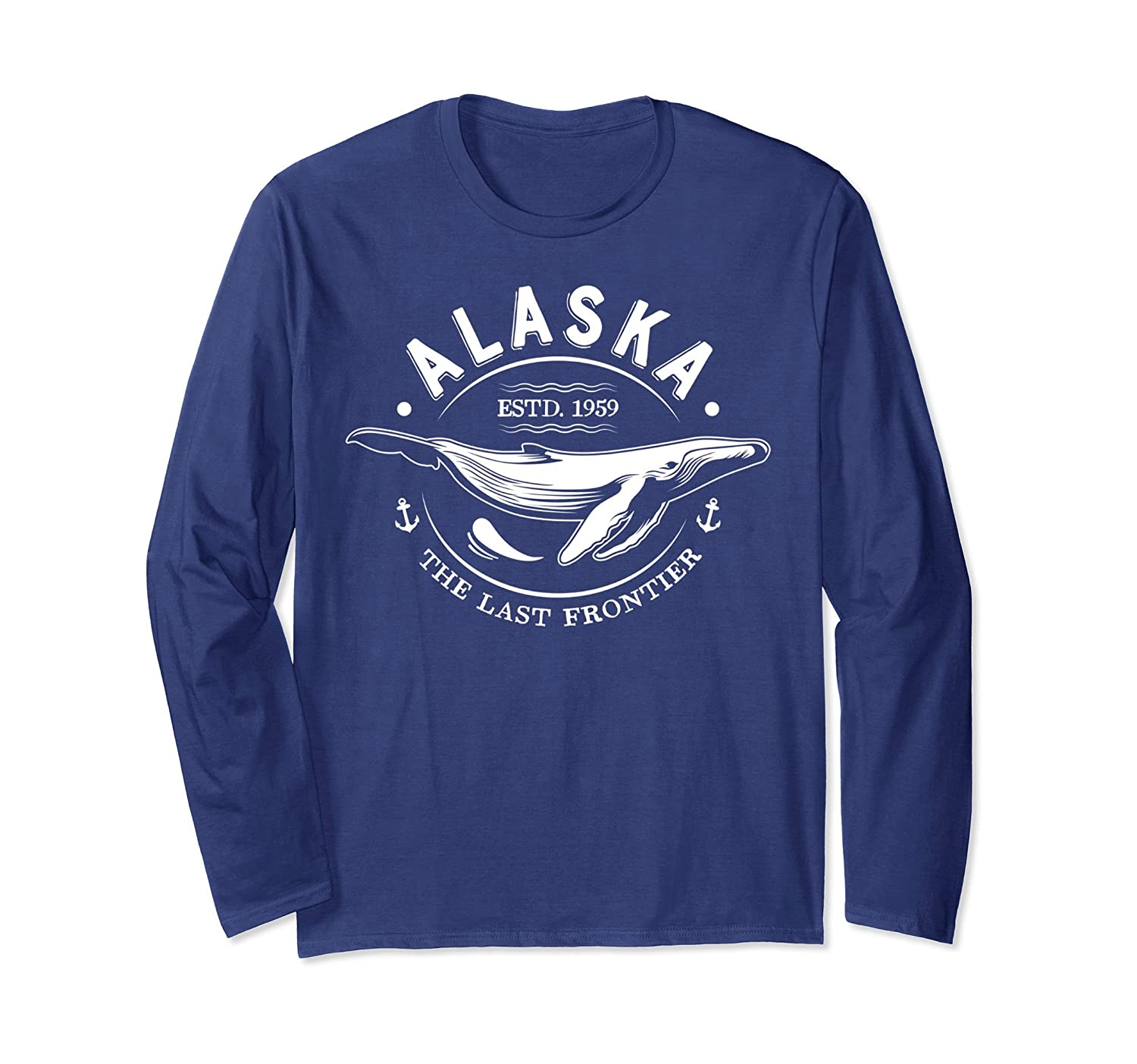 Alaska T Shirt The Last Frontier Whale Home Cruise Gifts Tee-Awarplus