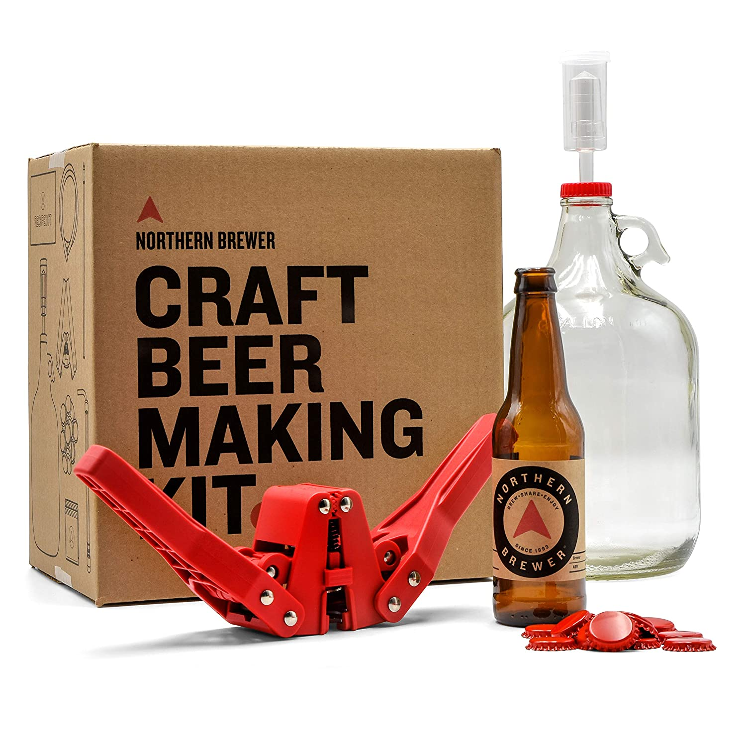 20c3d7da Northern Brewer Small Batch Homebrew Starter Kit with American Brown Ale  Recipe Kit: Amazon.co.uk: Kitchen & Home