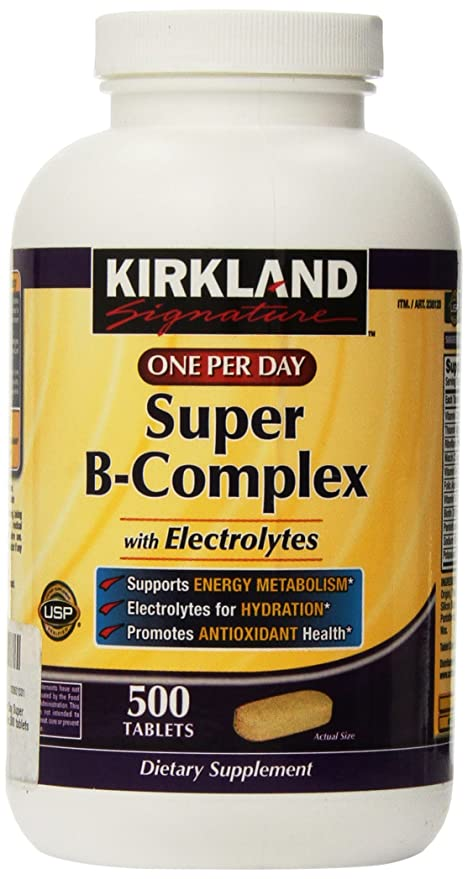 Kirkland Signature One Per Day Super B-Complex with Electrolytes,500 tablets by Kirkland