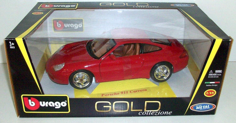 Burago 1/18 Scale Diecast - 18-12060 Porsche 911 Carrera 996 Red B004K9OH42