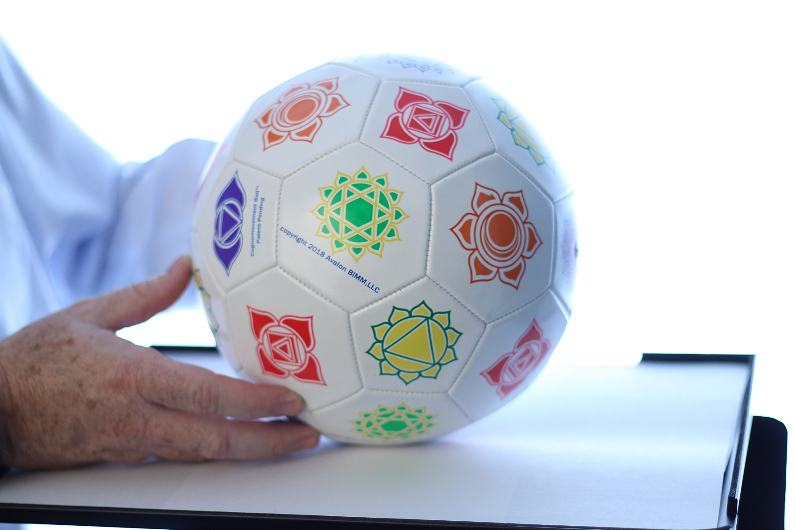 Cognomovement Soccer Ball Style + 1-Year Subscription | See Video Below | Physical & Mental Exercise Ball | Promotes Healthy Eating - Managing Stress Caused Emotional Eating | Boost Mental Acuity by Cognomovement