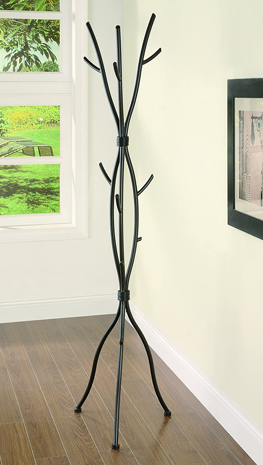 Branch Style Metal Coat Rack Brushed Brown Coaster Home Furnishings 900864