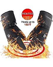 Svpro Guantes de Invierno con batería Recargable, Guantes artríticos térmicos Impermeables para Hombres