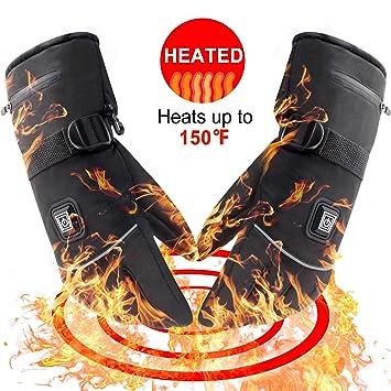 Svpo Batería recargable eléctrica Guantes térmicos de invierno con calefacción aislante guantes térmicos artríticos para hombres y mujeres (XL): Amazon.es: ...