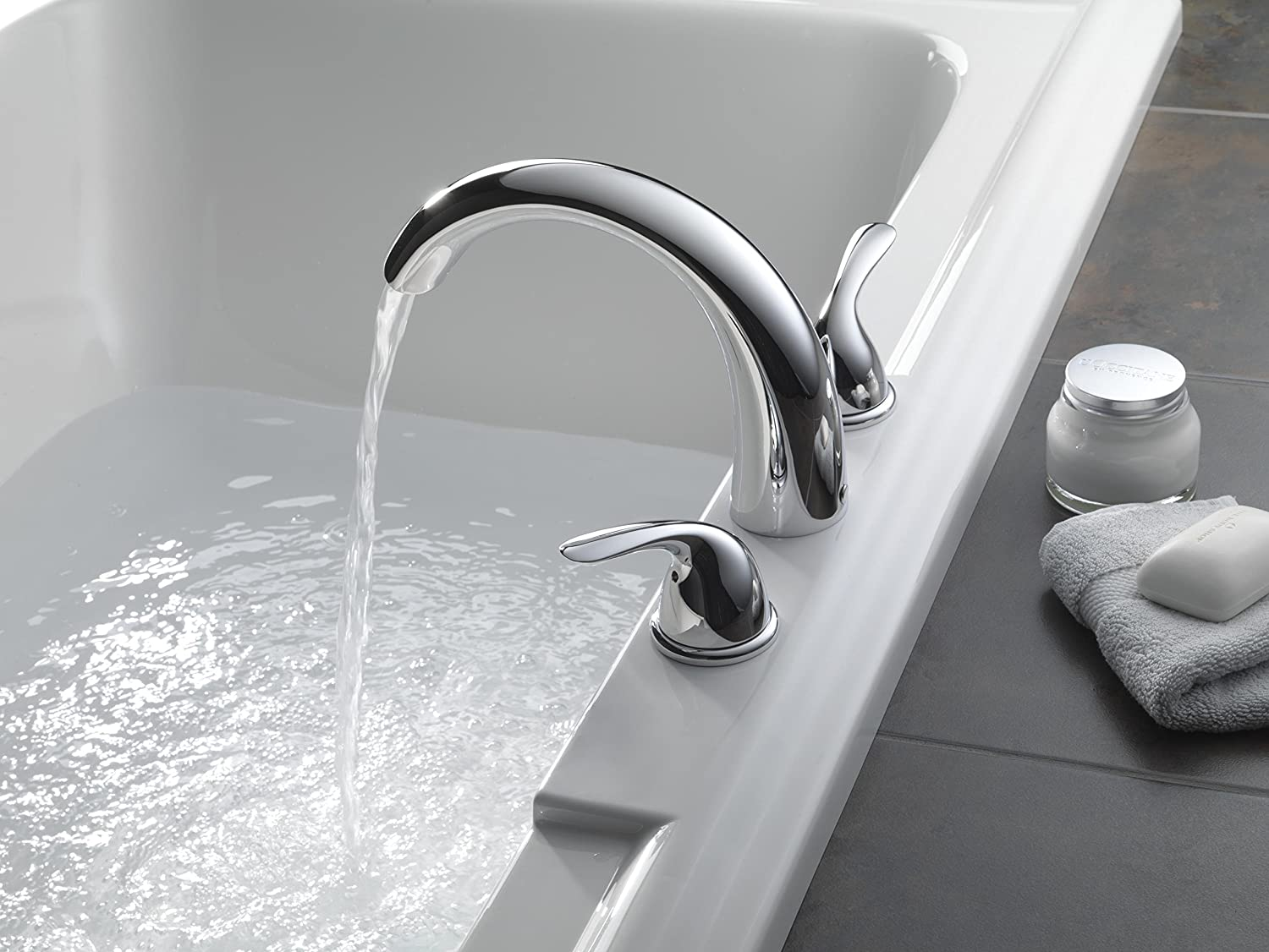 Delta T2705 Roman Tub Trim Stainless T2705-SS Valve sold separately