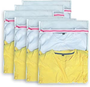 AimtoHome Set of 12 Mesh Laundry Bags - 12 Medium - Premium Quality: Laundry Bag for Blouse, Hosiery, Underwear, Bra and Baby Clothing, Travel Laundry Bag