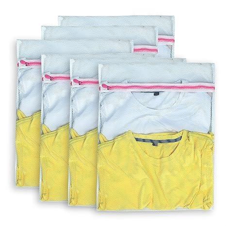 Amazon.com: aimto Juego de 6 bolsas de lavandería de malla ...