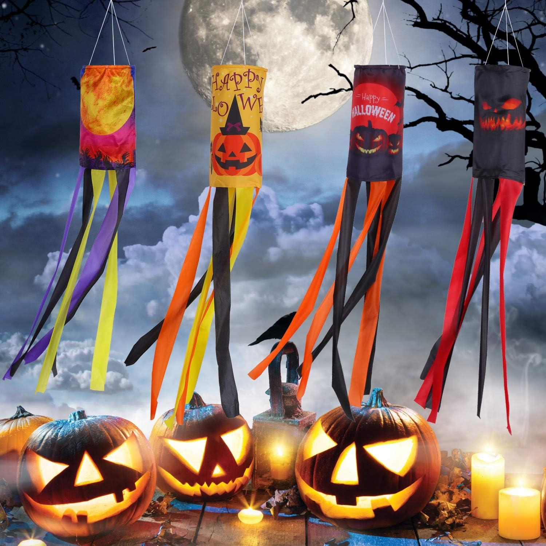 Halloween Pumpkin Windsock Outdoor Big Hanging Home Decoration Festival  2 Pack