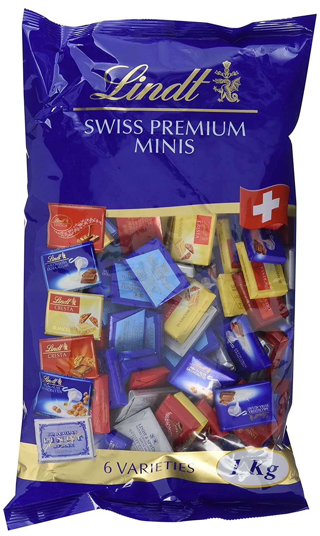 Lindt Napolitains Mini Schokoladentafeln Milch Extra Nuss Crisya In Mocca 37 Lindor Cresta Weiss Crmant 159 Stck 1er Pack 1 X Kg