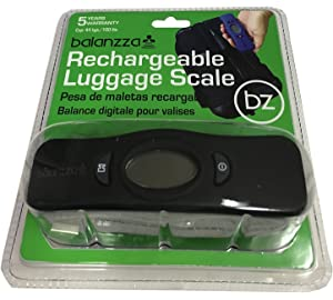Balanzza MINI USB Rechargable Digital Luggage Scale Capacity with Backlight Display, BZ400U 5 years