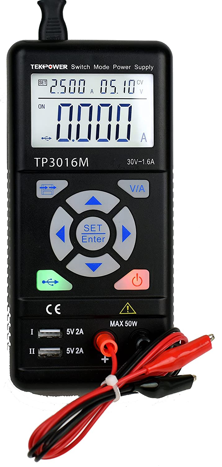 Tekpower Tp3016m Portable Handheld Variable Dc Power Supply With Usb How To Build A Simple Current Limiting Bench Port 03v 12v 0 375a Or 30v 16a Vc And Cc Control Upgraded Tp3005d