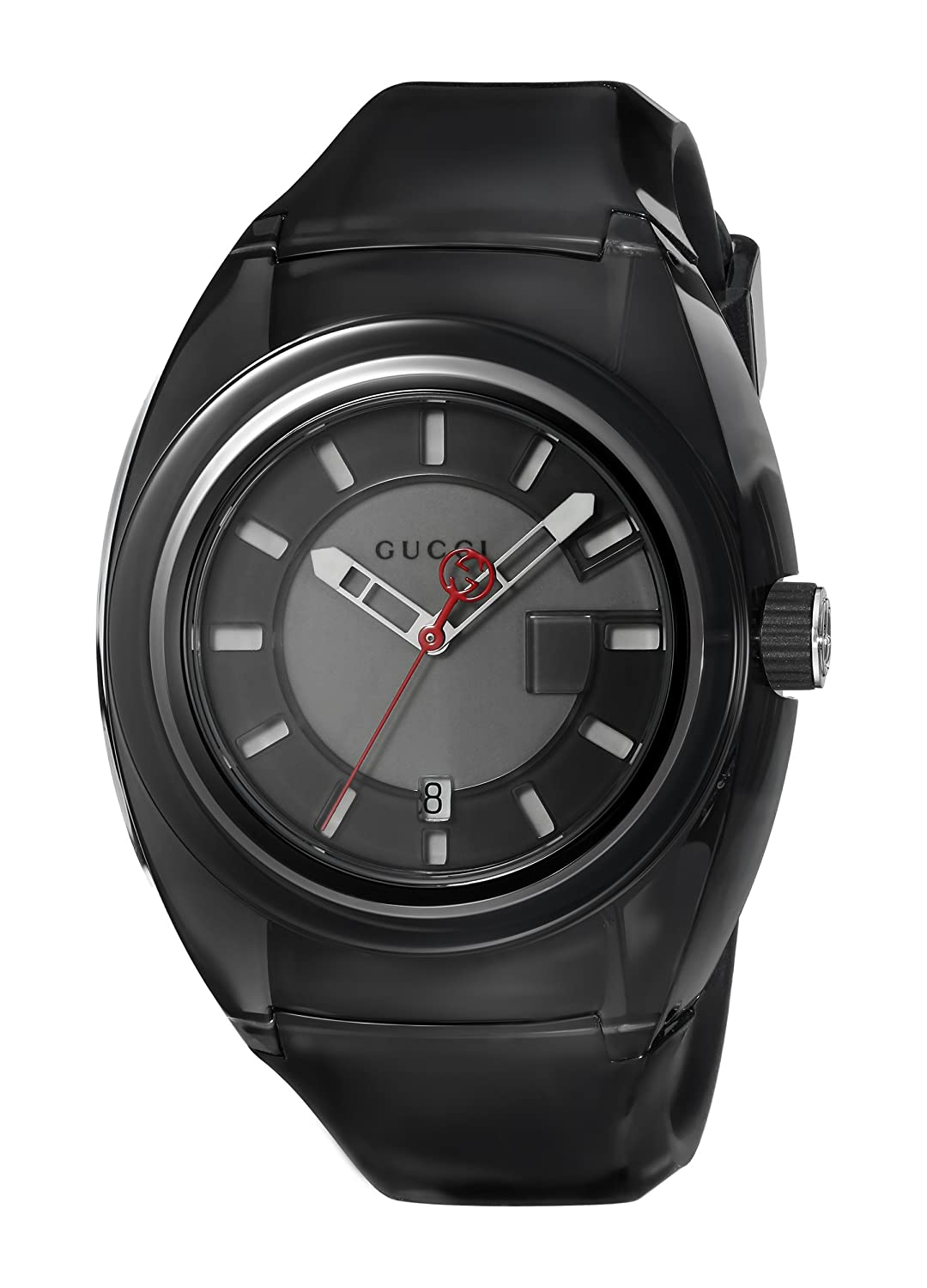 Gucci Quartz Stainless Steel and Rubber Casual Black Men s Watch