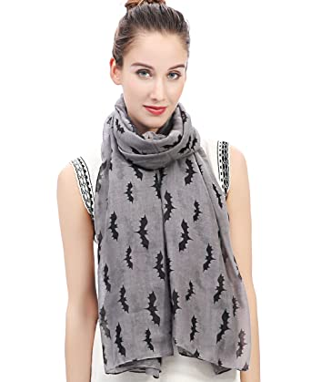 Lina & Lily Halloween Bat Print Women's Scarf Oversize by Lina & Lily