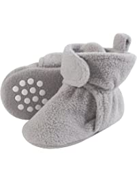 2fd50f9cc5bc Luvable Friends Baby Cozy Fleece Booties with Non Skid Bottom
