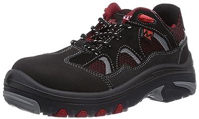 MTS Sicherheitsschuhe M-Gecko Galior S1P Flex 41189, Chaussures de Sécurité Mixte Adulte, Noir (Schwarz/Rot), 39