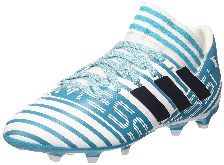 adidas Jungen NEMEZIZ 17.3 Fg J Fußballschuhe, Weiß, Mehrfarbig (Legend Ink/Solar Yellow/Energy Blue), 34 EU