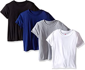 100/% Cotton -New Tagless Hanes Boys a-Shirts 3 Pack Size Large G 50