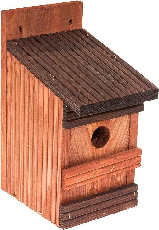 N A Nistkasten Nistkästen Für Meisen Spatzen Vögel Aus Holz Amazon De Haustier