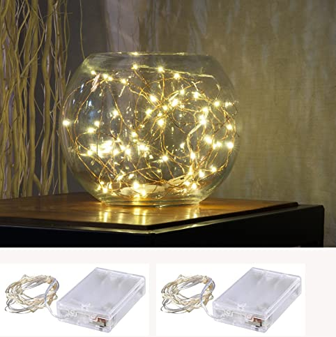 Amazon.com: Pack of 2 sets LED SopoTek 7ft 20 LEDS Starry Lights ...