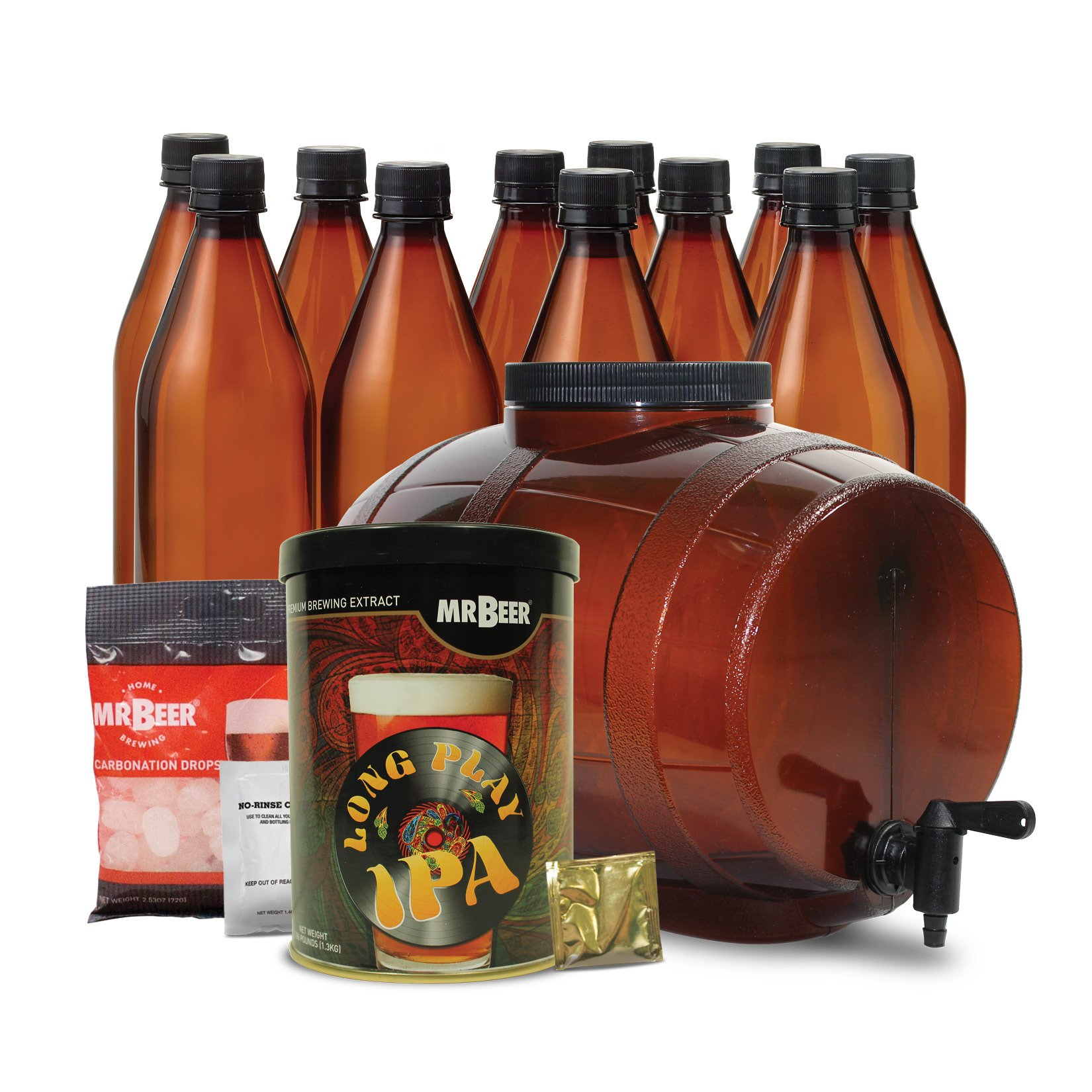 Mr. Beer IPA Edition 2 Gallon Homebrewing Craft Beer Making Kit with All Grain Extract Beer Refill and Convenient 2 Gallon Fermenter by Mr. Beer