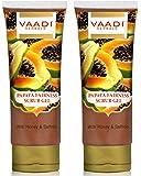 Vaadi Herbals Papaya Fairness Scrub Gel with Honey and Saffron, 110gms x 2