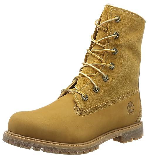 ef01eebd Amazon.com   Timberland Women's Teddy Fleece Fold-Down Waterproof Boot    Shoes