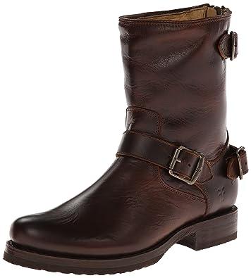 f7de85e318ef FRYE Women s Veronica Back Zip Short Dark Brown Antique Pull Up Boot 5.5 B  (M