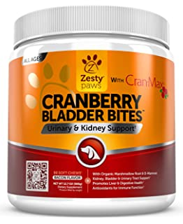 Cranberry for Dogs - Urinary Tract UTI & Kidney + Bladder Support - UT Incontinence Support