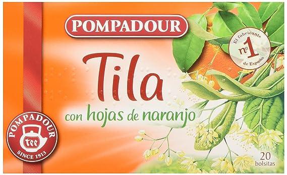 Pompadour Té Infusion Tila con Hojas de Naranja - 20 bolsitas - [Pack de 10