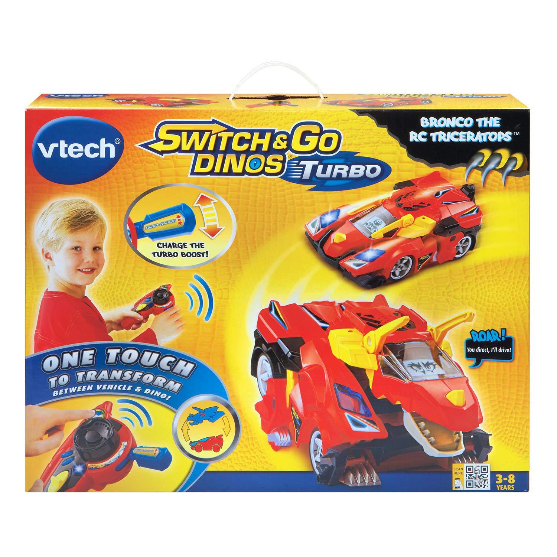 VTech Vehículo teledirigido, diseño de dinosaurio, tricerátops: Amazon.es: Juguetes y juegos