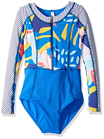 c40e2f7f74b Amazon.com: Maaji Girls' Long Sleeve Surf Suit with Zip Front One Piece  Swimsuit: Clothing