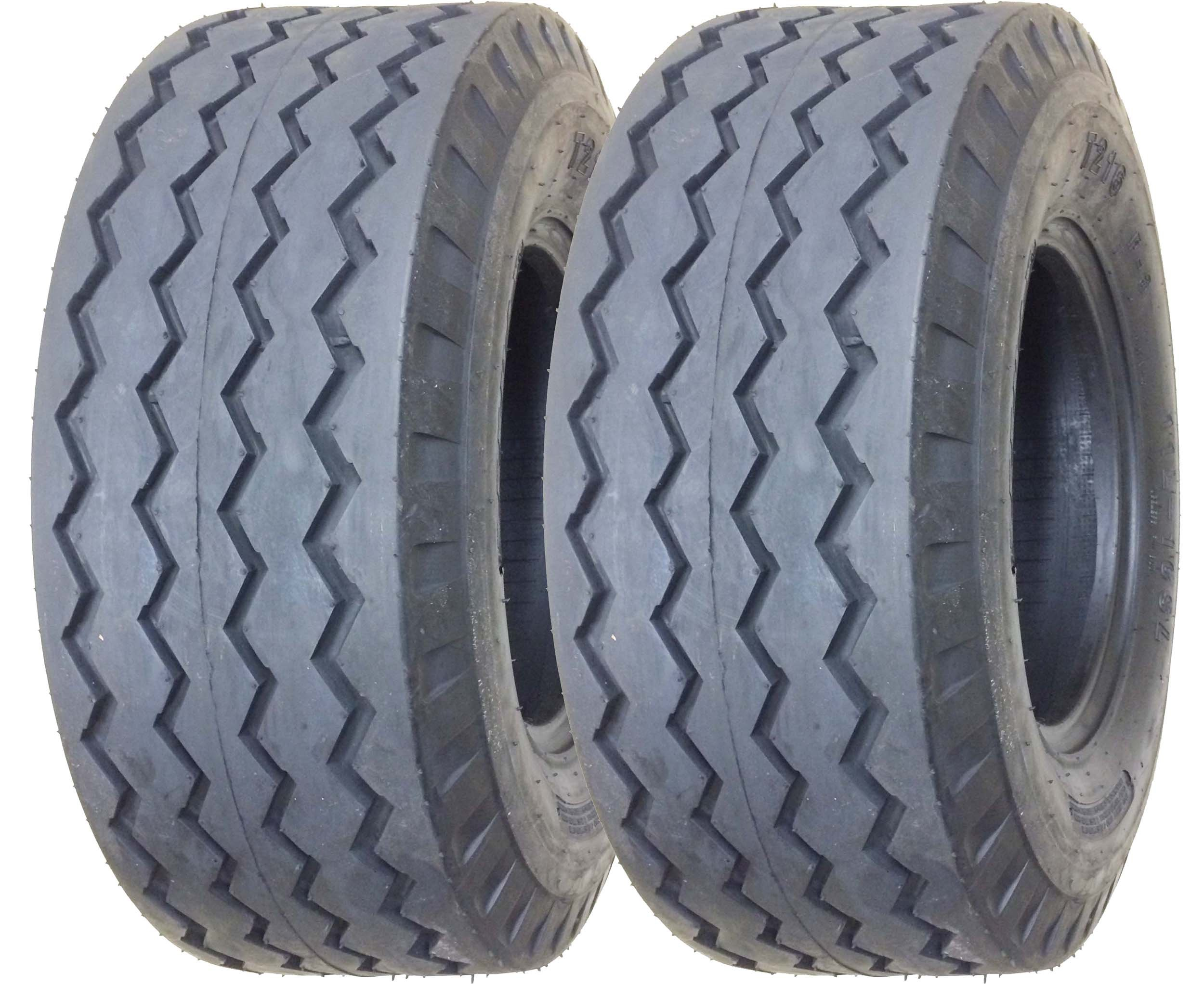 Set of 2 New ZEEMAX Heavy Duty 11L-16 Backhoe Implement Tires 12PR - 11069 by ZEEMAX (Image #1)
