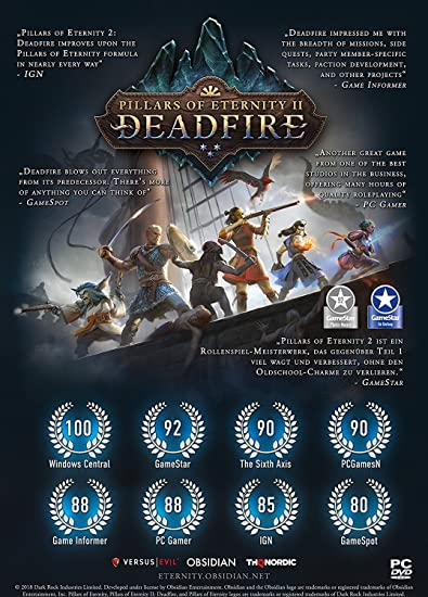 Amazon Com Pillars Of Eternity Ii Deadfire Ps4 Video Games
