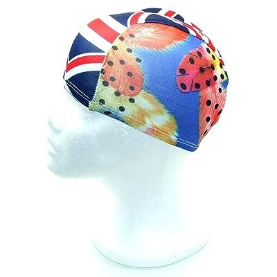 Tissu stretch fantaisie–Bonnet de bain–Bonnet de bain–Bonnet de douche–Taille Unique–Style 134