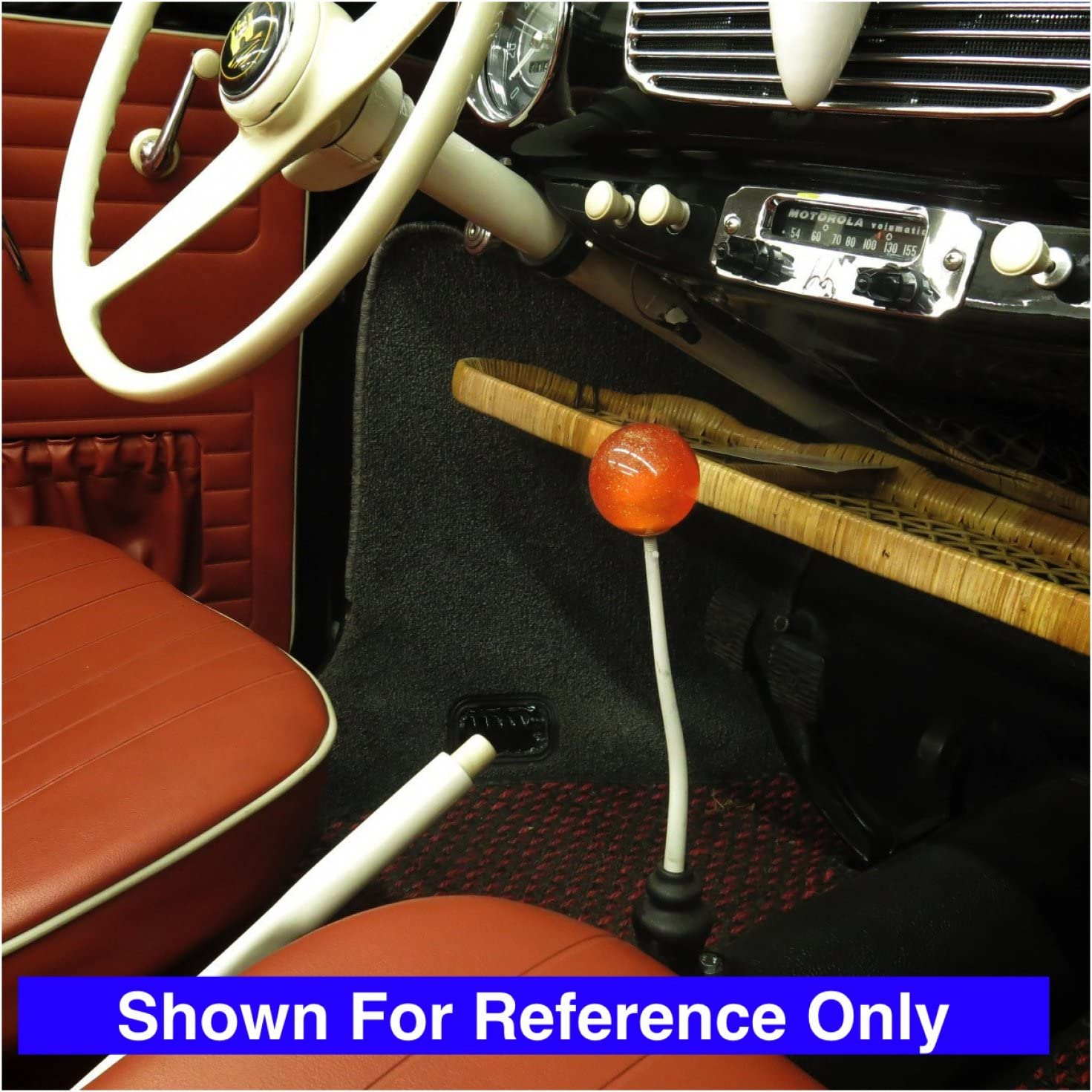 American Shifter 44699 Orange Metal Flake Shift Knob with 16mm x 1.5 Insert Yellow American Flag