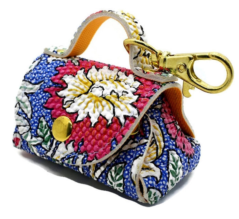 001139 New Unique Fashion Coin Purse Key Chain Handbag Bag Leather Gift Ring
