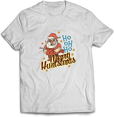 lepni.me Camisetas Hombre Cazador de Divertidos Papá Noel Regalo de Caza de Navidad para él: Amazon.es: Ropa y accesorios