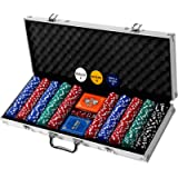 Professional 200, 300 or 500 Chips (11.5g) Poker Set with Case by Rally & Roar – 3 OPTIONS - Complete Poker Playing Game…