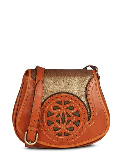 Khaki//tan One Size Penelope Chilvers Castanet Metallic Bag Womens Hand