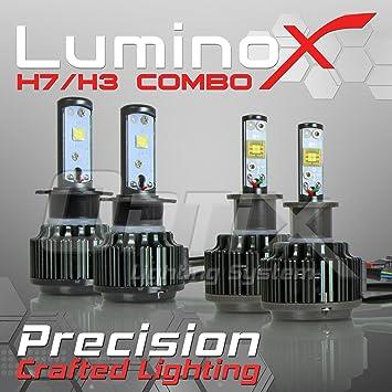 Optix – 120 W 14400lm LED faro Kit de conversión – H7 H3 Luz de cruce